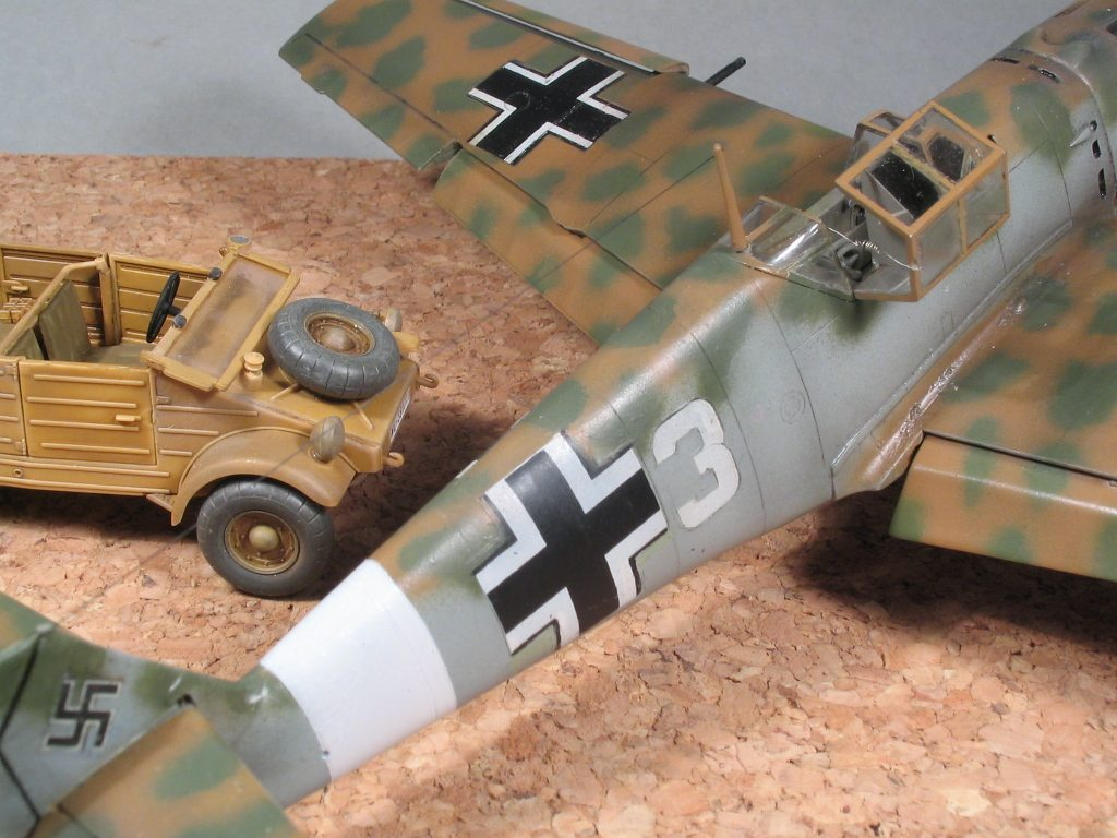 Messerschmitt bf109e 7 from hasegawa in 148 scale english the weathering was done with various brushed pastel powders and with brown oil color some coat of black and various grays helped to represent the heavy nvjuhfo Choice Image