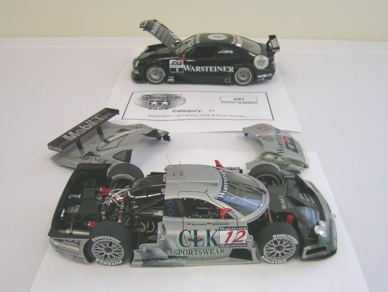 Mercedes CLK GTR, This one won 1st place factory stock/race car 1/24