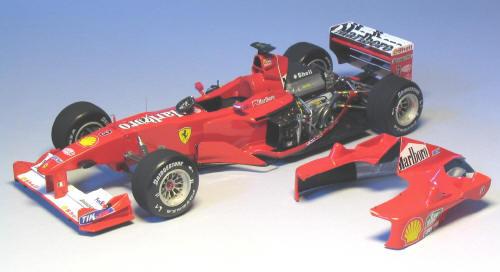 Building the Ferrari F1-2000 Malaysian GP Tamiya 1/20 scale - 1/20