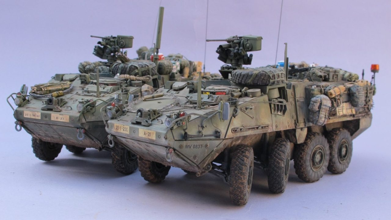 m1126 stryker infantry carrier vehicle icv from afv club 1 35 scale. Black Bedroom Furniture Sets. Home Design Ideas