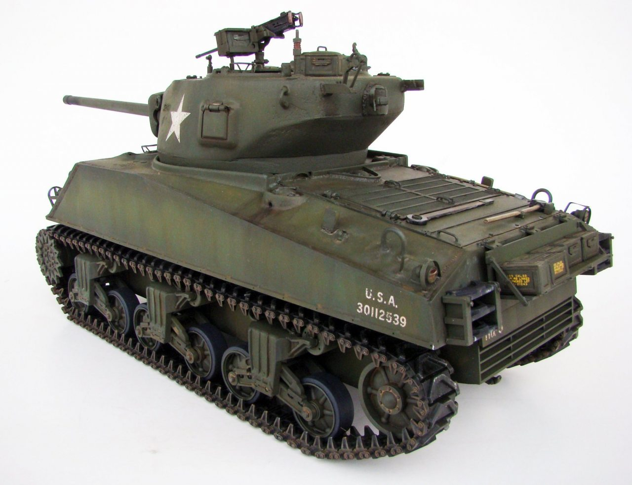 70aca52e8680 Building the M4A3 76mm Sherman R C from Heng long and Tamiya parts – 1 16  scale