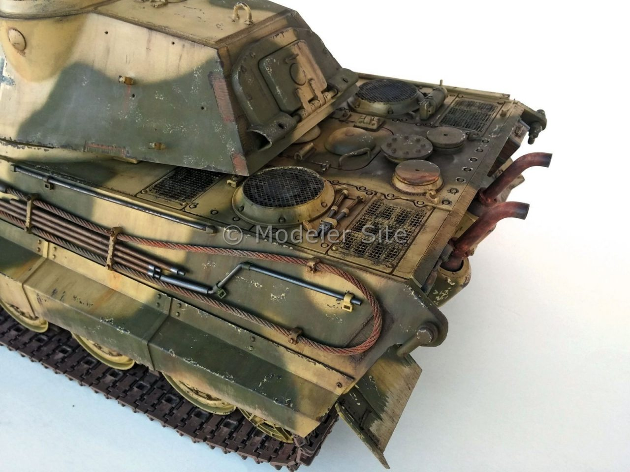 Tamiya King Tiger Porsche Turret R C 1 16 Scale