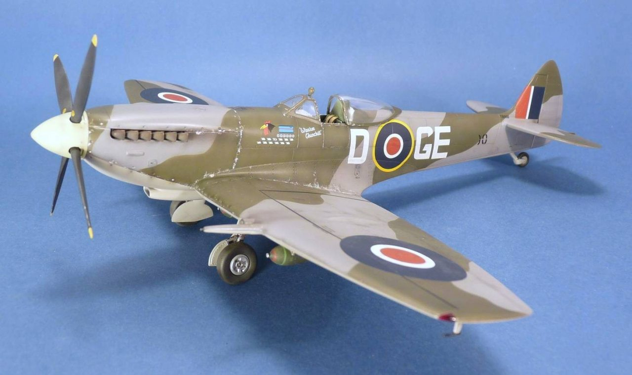 italeri spitfire mk xvi 1 48 scale rh modelersite com vi 1927 vi 1450t updates