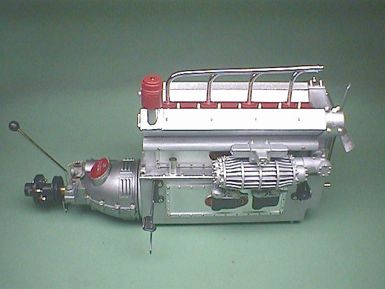 building the pocher km76 1/8 scale bugatti engine only english - 1